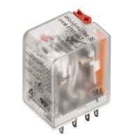 7760056101 DRM570524LT, Реле + LED+тестовая кнопка, Количество контактов: 4, Номинальное напряжение: 24 В AС