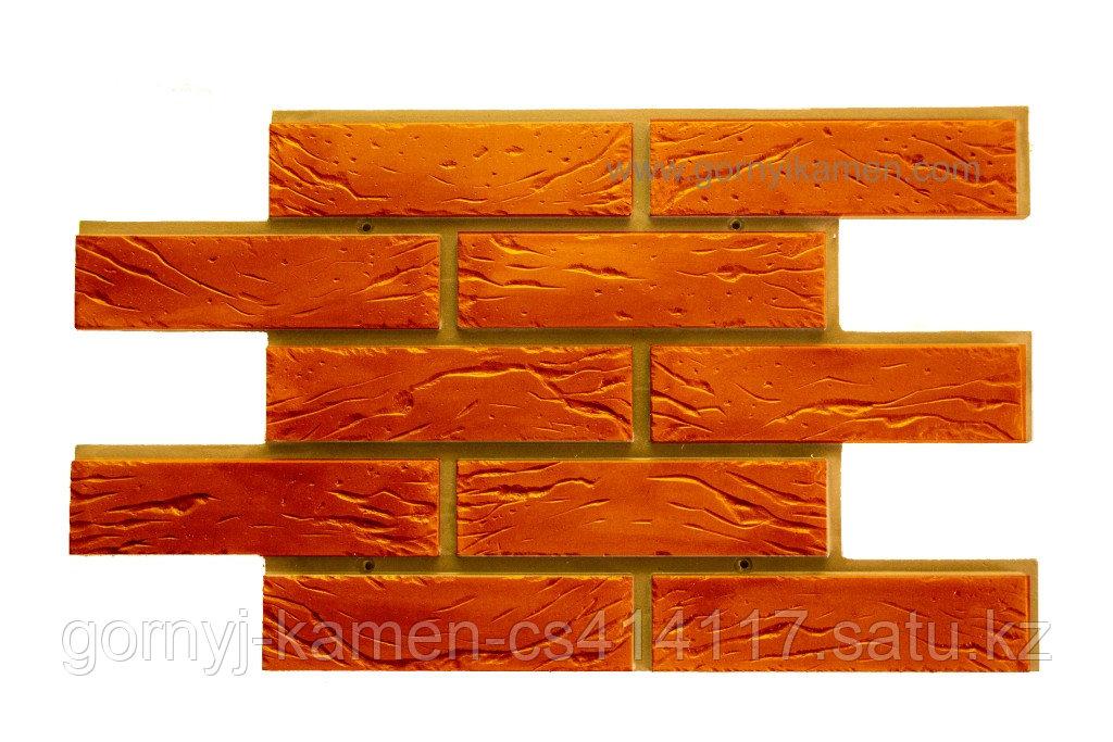 Фасадная панель - шамотный кирпич