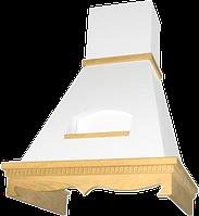 Вытяжка ELIKOR Бельведер 60 см беж/рамка белая патина с золотом