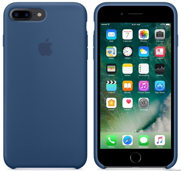 Cиликоновый чехол для iPhone 7 Plus (глубокий синий)