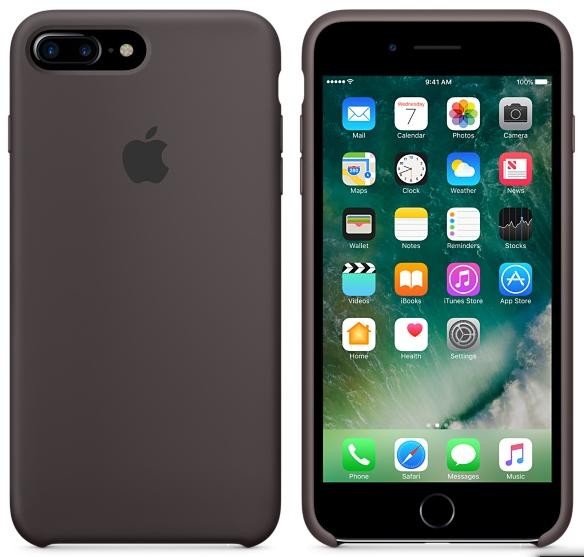Cиликоновый чехол для iPhone 7 Plus (темное какао)
