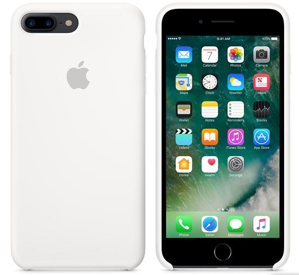 Cиликоновый чехол для iPhone 8 Plus (белый)