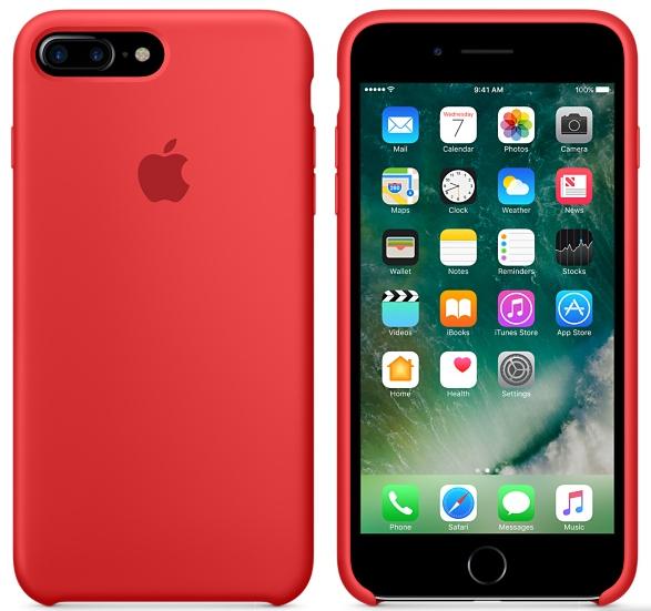 Cиликоновый чехол для iPhone 7 Plus / 8 Plus (красный) - фото 1