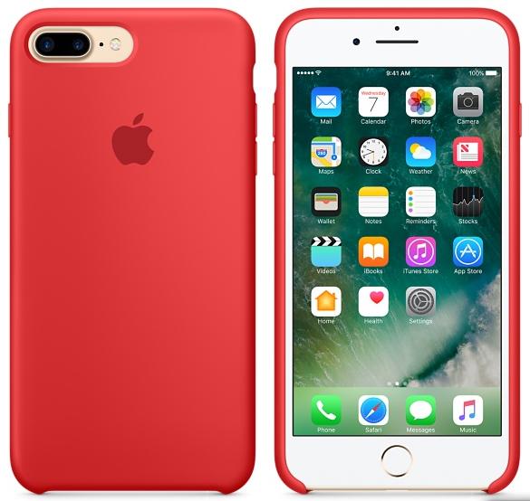 Cиликоновый чехол для iPhone 7 Plus / 8 Plus (красный) - фото 4