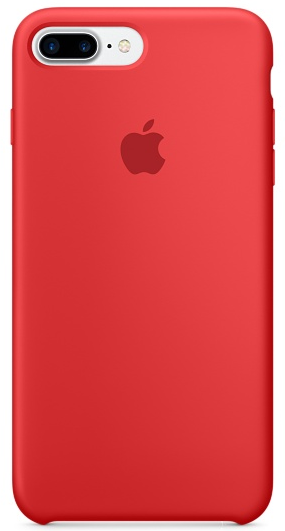 Cиликоновый чехол для iPhone 7 Plus / 8 Plus (красный) - фото 6