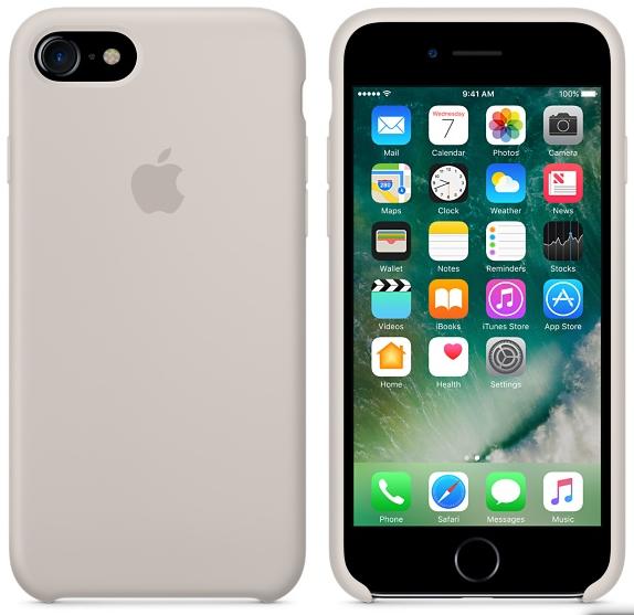 Cиликоновый чехол для iPhone 7 (бежевый)