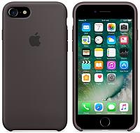 Cиликоновый чехол для iPhone 8 (темное какао)