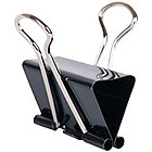 Зажимы для бумаг 19 мм, OfficeSpace, 12 шт, черные, картонная коробка, фото 2
