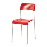 Стул АДДЕ красный ИКЕА, IKEA, фото 1
