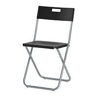 Стул складной ГУНДЕ черный ИКЕА, IKEA