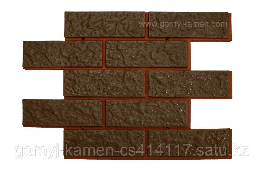 Фасадная армированная,  бетонная панель - кирпич Норд