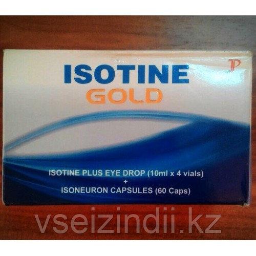 Айсотин Голд, Isotine Gold, капли и таблетки для глаз
