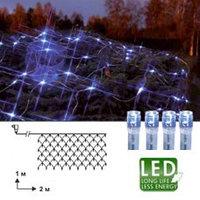 Гирлянда-сетка голубая 2х1м прозр кабель 90 диодов 499-69