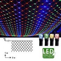 Гирлянда-сетка разноцветная 2х1м 90 диодов 498-61