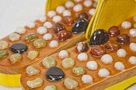 Деревянные массажные тапочки с камнями ( 38-39-40-41-42-43 )