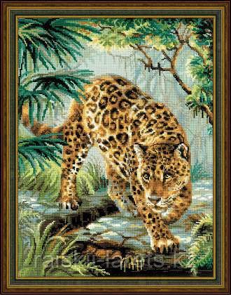 """Набор для вышивания крестом РИОЛИС 1549 """"Хозяин джунглей"""""""