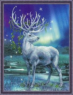 """Набор для вышивания крестом """"Белый олень""""  РТ-0043"""