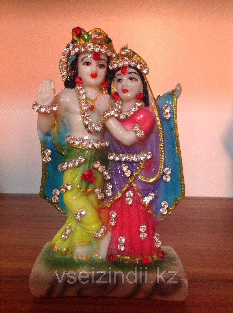 Статуэтка Кришна и Радха, большая
