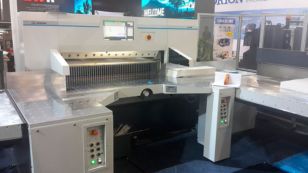 Резальная машина для бумаги Guowang Mastercut  K-137L (1370 мм)