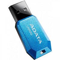 "USB-флеш-накопитель ""A-DATA  USB Dash Drive 2.0       8GB  Slim Bevelled  M:UV100 Blue"""