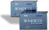 Линзы Biomedics Evolution 55, 6шт (3 пары)