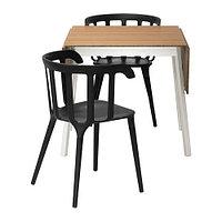 Стол и 2 стула ИКЕА ПС 2012 / ИКЕА ПС 2012 бамбук черный ИКЕА, IKEA, фото 1