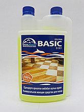Слабощелочное низкопенное концентрированное средство для мытья полов  DOLPHIN BASIC 1 литр с дозатором