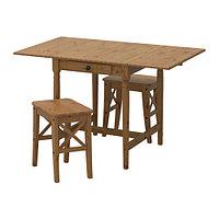 Стол и 2 стула ИНГАТОРП / ИНГОЛЬФ морилка, антик ИКЕА, IKEA, фото 1