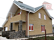 Фасадная цокольная панель - речной бут, фото 3