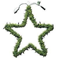 Еловая гирлянда дополнительная Звезда с огнями d55см EXPO 484-92
