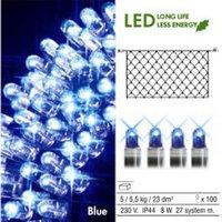 Гирлянда-сетка голубая дополнит. 2x1м 100диодов System LED 465-19