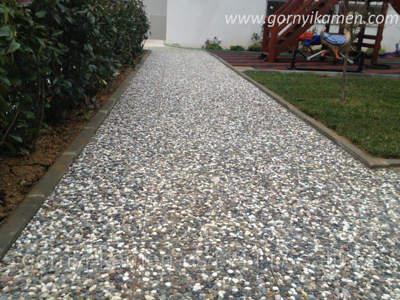 Брусчатка тротуарная плитка - Галька