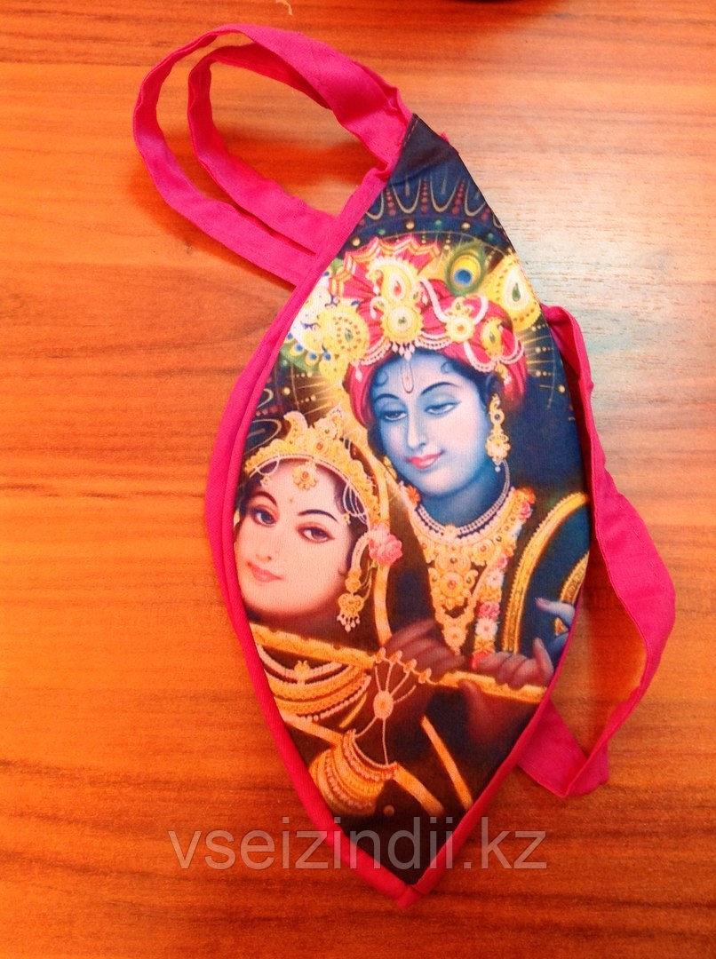 Мешочек для четок ― Кришна и Радха играющие на флейте