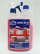 Кислотное гелеобразное средство для мытья сантехники - SANI-ACID с дозатором и триггером, 1 литр