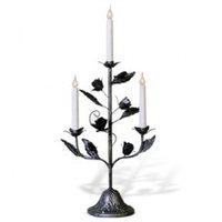 Канделябр LED Розетта серебро 3 свечи