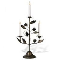 Канделябр LED Розетта бронзовый 3 свечи 111-80