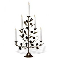 Канделябр LED Розетта бронзовый 5 свечей 112-80