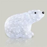 Декорация светодиод Белый медведь 40см LED KA492014