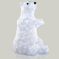 Декорация светодиод Белый медведь 53см холоднобелая LED KA492013
