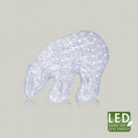 Декорация светодиод. Белый медведь 32х22см 80диодов 583-54