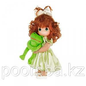 Кукла Precious Moments Девочка и лягушонок Элли (рыжая)