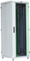 """ITK Шкаф сетевой 19"""" LINEA N 42U 600х600 мм стеклянная передняя дверь серый"""