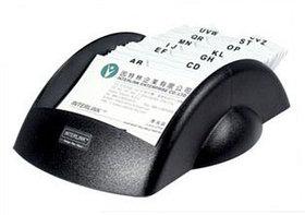 Картотека для записи 200 телефонов и адресов, 151х236х70мм, черная O-Life