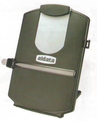 Держатель для бумаг А4, настольный, пластик, черный Aidata