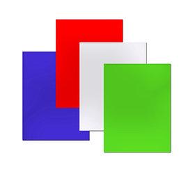 Обложка для переплета, A4, 250гр, картон-глянец, синяя Bindermax