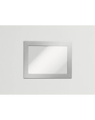 Настенная информационная магнитная рамка Magaframe™ A6 Durable серебристая