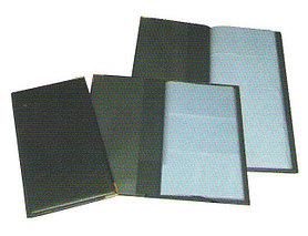 Визитница на 160 визиток, 113x195мм, черная Bindermax