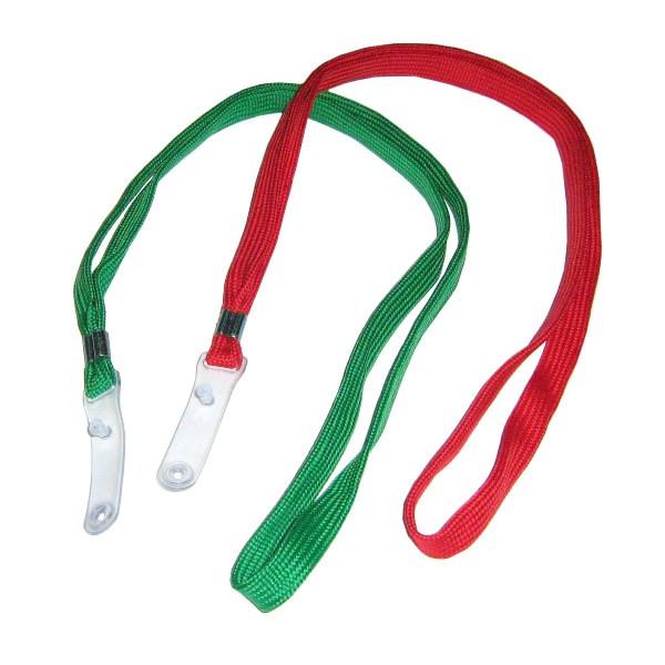 Ремешок для бейджа, 45см, c пластиковым клипом, красный Kejea