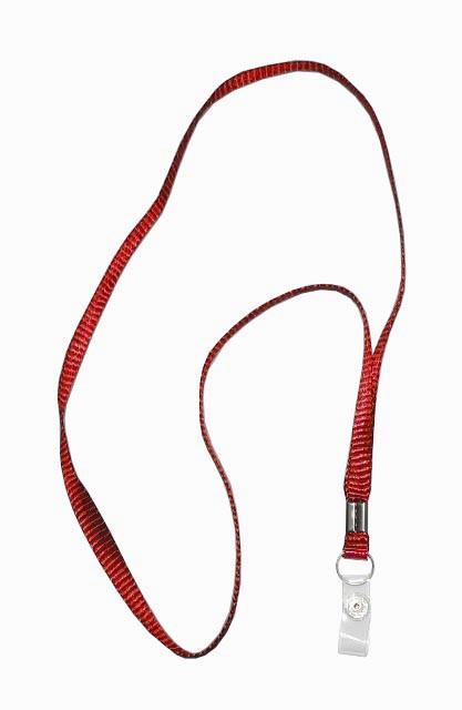 Ремешок для бейджа, 45см, c пластиковым клипом, красный Shuter