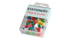 Гвоздики-треугольники для доски, 40шт, цветные Zhenda